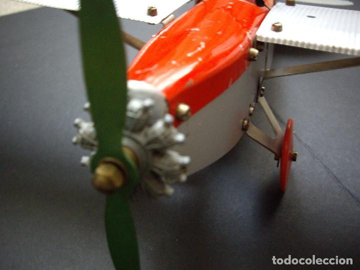 Juguetes antiguos de hojalata: Avión 1940-50 Dux Bral Construzione Aeronautice No.10 - Foto 2 - 194404910