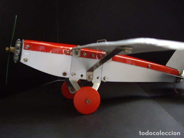 Juguetes antiguos de hojalata: Avión 1940-50 Dux Bral Construzione Aeronautice No.10 - Foto 3 - 194404910