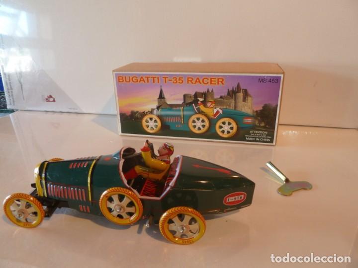 Juguetes antiguos de hojalata: COCHE BUGATTI T-35 RACER. JUGUETE DE HOJALATA - Foto 3 - 194688782
