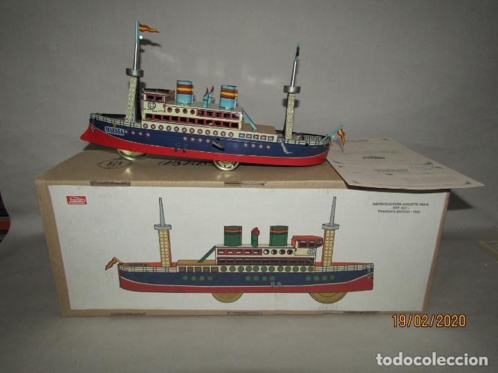 Juguetes antiguos de hojalata: Barco Transatlántico de 1931 Edición Limitada y Numerada de PAYÁ para MAESSA NAVAL - Foto 3 - 194723847