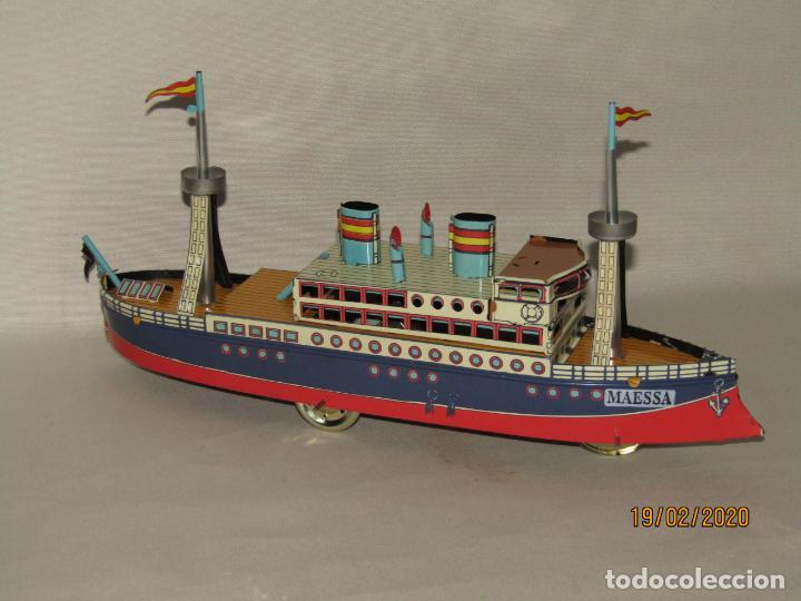 Juguetes antiguos de hojalata: Barco Transatlántico de 1931 Edición Limitada y Numerada de PAYÁ para MAESSA NAVAL - Foto 5 - 194723847