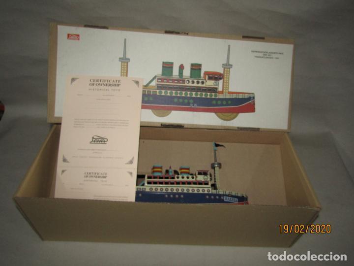 Juguetes antiguos de hojalata: Barco Transatlántico de 1931 Edición Limitada y Numerada de PAYÁ para MAESSA NAVAL - Foto 7 - 194723847