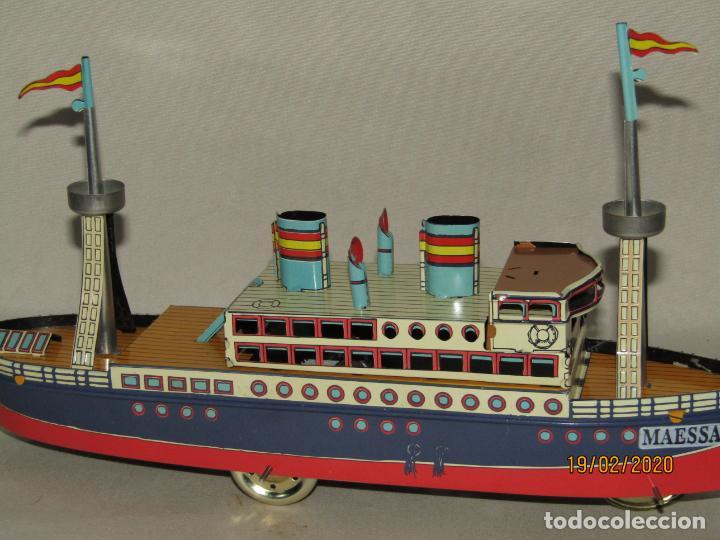 Juguetes antiguos de hojalata: Barco Transatlántico de 1931 Edición Limitada y Numerada de PAYÁ para MAESSA NAVAL - Foto 8 - 194723847