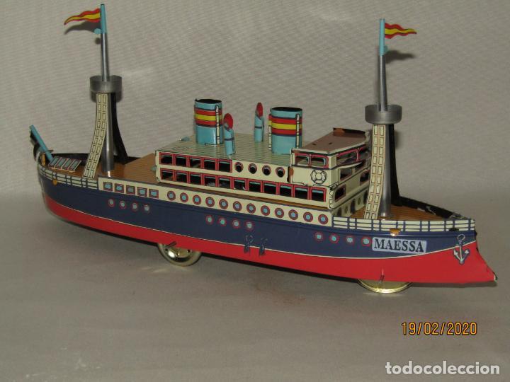 Juguetes antiguos de hojalata: Barco Transatlántico de 1931 Edición Limitada y Numerada de PAYÁ para MAESSA NAVAL - Foto 10 - 194723847