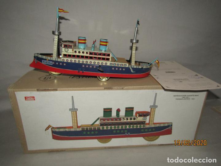 Juguetes antiguos de hojalata: Barco Transatlántico de 1931 Edición Limitada y Numerada de PAYÁ para MAESSA NAVAL - Foto 11 - 194723847