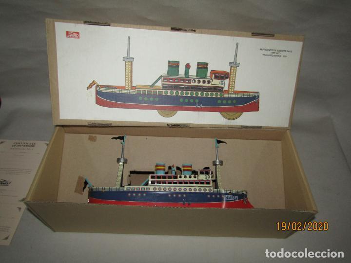 Juguetes antiguos de hojalata: Barco Transatlántico de 1931 Edición Limitada y Numerada de PAYÁ para MAESSA NAVAL - Foto 12 - 194723847