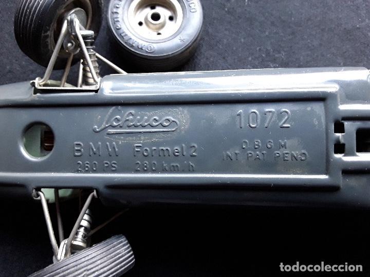 Juguetes antiguos de hojalata: COCHE BMW FORMEL 2 SCHUCO 1072,CHASIS METALICO Y CARROCERIA PLASTICO DURO,DE CUERDA - Foto 2 - 194750060