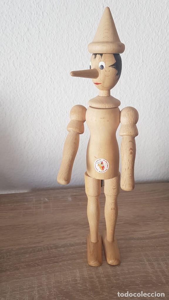 Juguetes antiguos de hojalata: Pinocho Made in ITALy hecho en madera articulado. - Foto 3 - 194755080