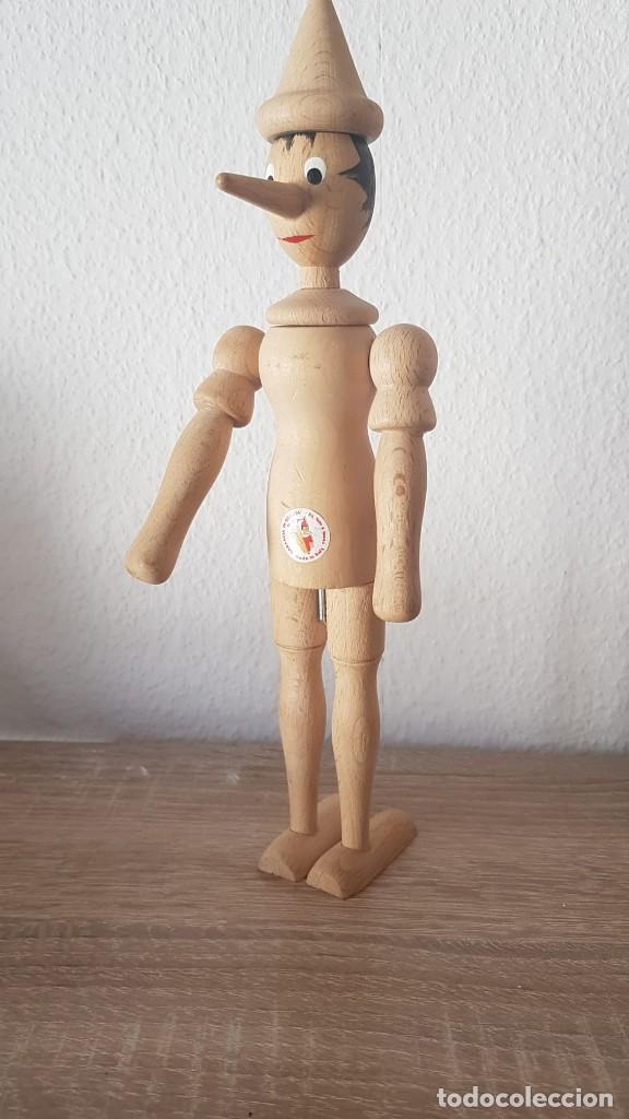 Juguetes antiguos de hojalata: Pinocho Made in ITALy hecho en madera articulado. - Foto 6 - 194755080