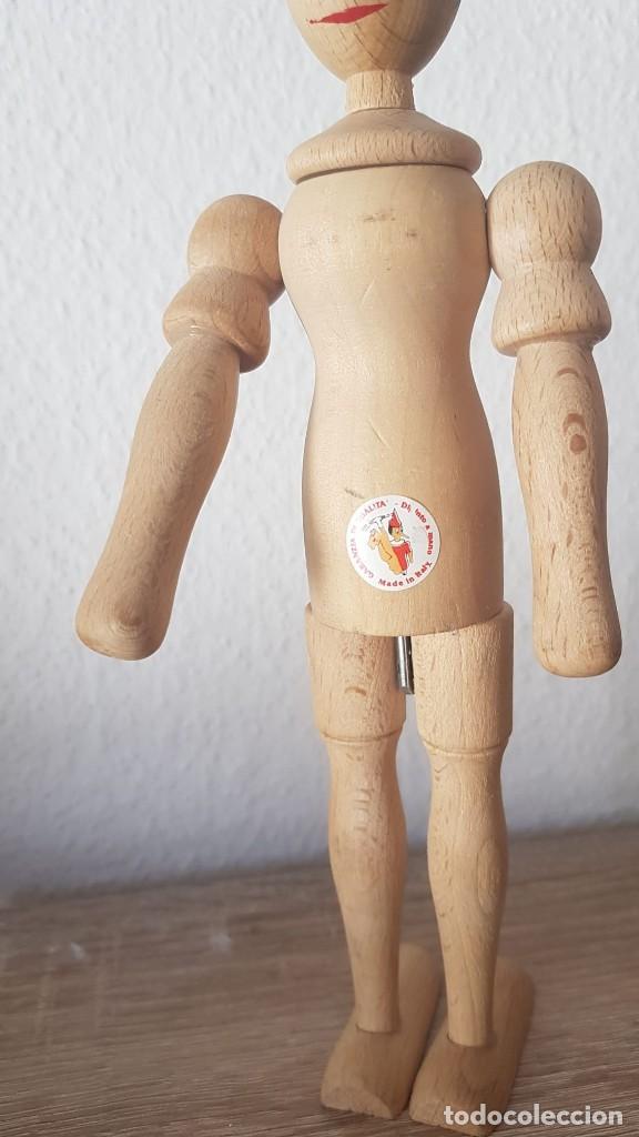 Juguetes antiguos de hojalata: Pinocho Made in ITALy hecho en madera articulado. - Foto 8 - 194755080
