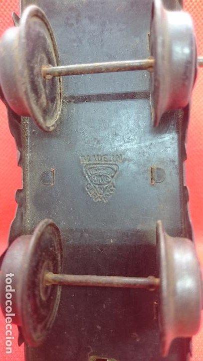 Juguetes antiguos de hojalata: Vagón de tren marca Fandor. Made in Germany 1910 - Foto 9 - 194783037