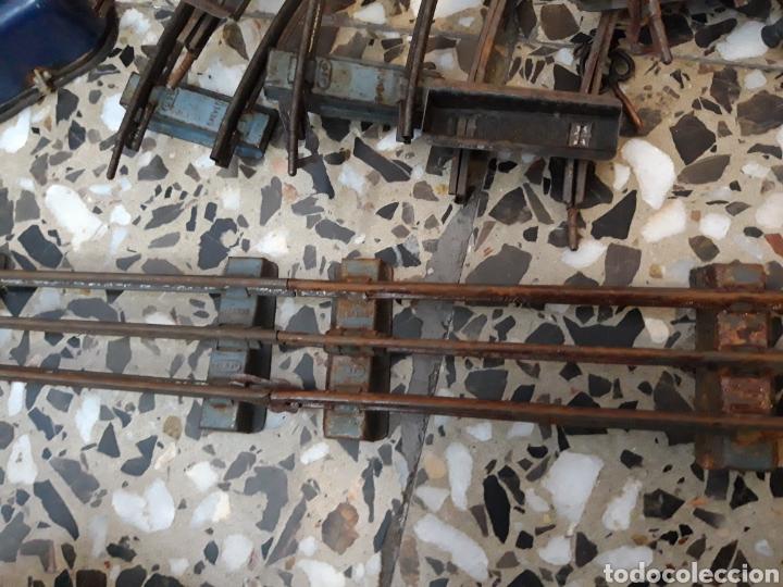 Juguetes antiguos de hojalata: ANTIGUO TREN A CUERDA VAGONES DE HOJALATA J.DE.P MADE IN FRANCE DE TODO UN POCO - Foto 20 - 194881492