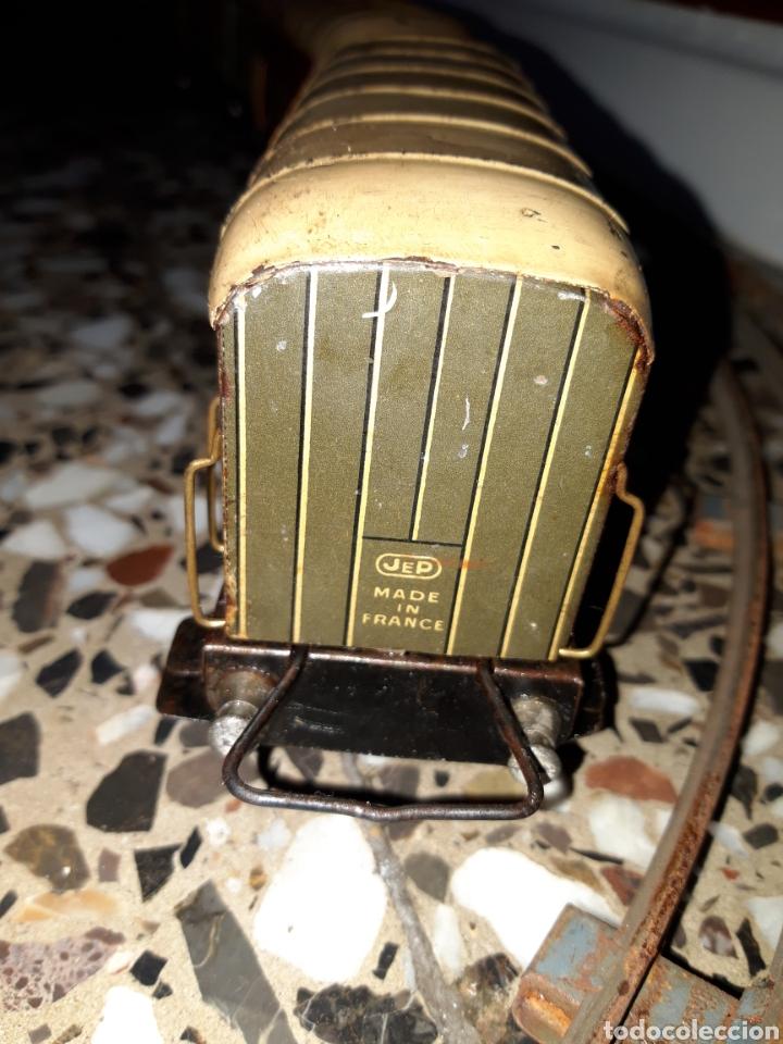 Juguetes antiguos de hojalata: ANTIGUO TREN A CUERDA VAGONES DE HOJALATA J.DE.P MADE IN FRANCE DE TODO UN POCO - Foto 22 - 194881492