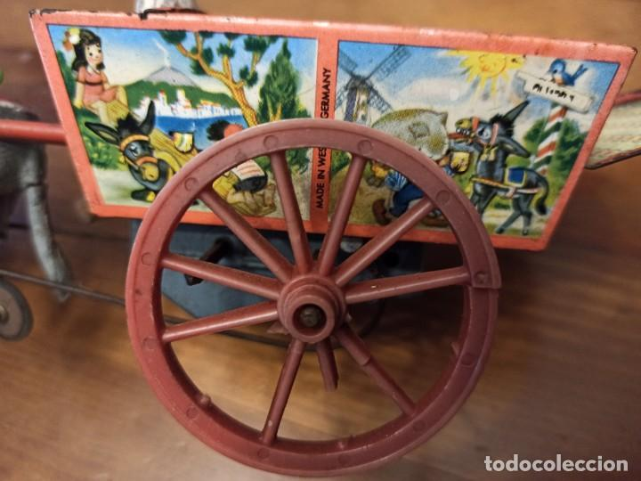 CARRETA ALEMANA (Juguetes - Juguetes Antiguos de Hojalata Extranjeros)