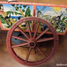 Juguetes antiguos de hojalata: CARRETA ALEMANA . Lote 194928050