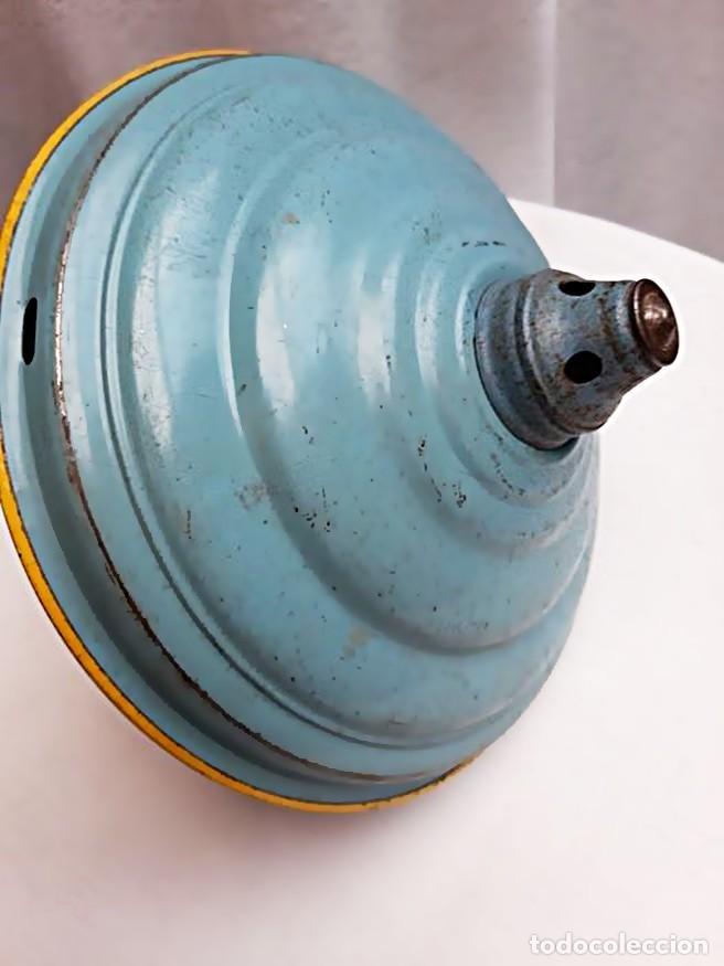Juguetes antiguos de hojalata: MFZ - AÑOS 40 - ANTIGUO TROMPO - PEONZA GRANDE DE ESPIRAL EN HOJALATA - GERMANI - 20 CM - PERFECTO - Foto 11 - 195261342
