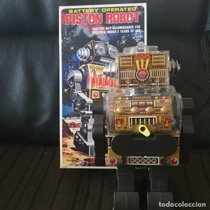 Juguetes antiguos de hojalata: Piston Robot Horikawa SH Nuevo a Estrenar de Jugueteria - Foto 4 - 195303315