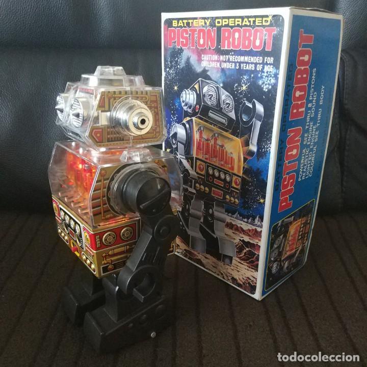 Juguetes antiguos de hojalata: Piston Robot Horikawa SH Nuevo a Estrenar de Jugueteria - Foto 6 - 195303315