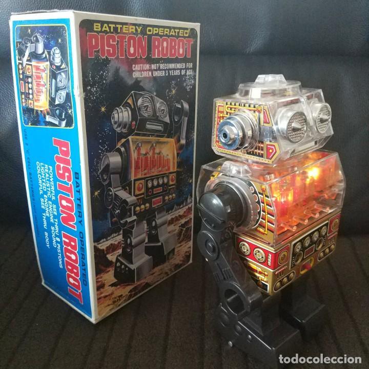 Juguetes antiguos de hojalata: Piston Robot Horikawa SH Nuevo a Estrenar de Jugueteria - Foto 7 - 195303315