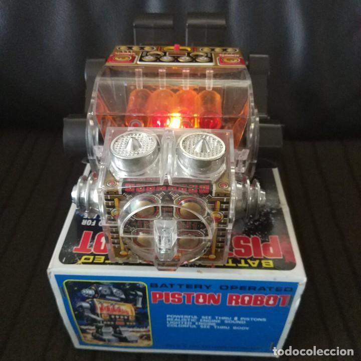 Juguetes antiguos de hojalata: Piston Robot Horikawa SH Nuevo a Estrenar de Jugueteria - Foto 8 - 195303315