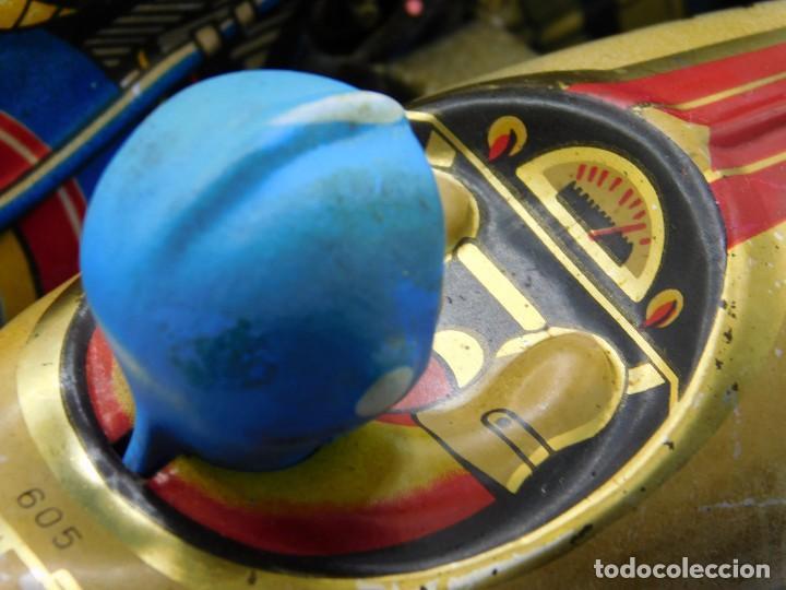 Juguetes antiguos de hojalata: AÑOS 40 ANTIGUA MOTO SIDECAR CON DOS PASAJEROS - HOJALATA A CUERDA / LLAVE - NO ES REPRODUCCIÓN 19CM - Foto 11 - 195340627