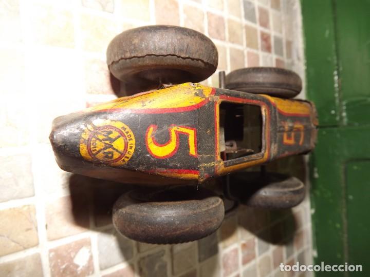 Juguetes antiguos de hojalata: Marx ,coche N 5 de carreras, a cuerda,REf 1015 - Foto 3 - 195364008