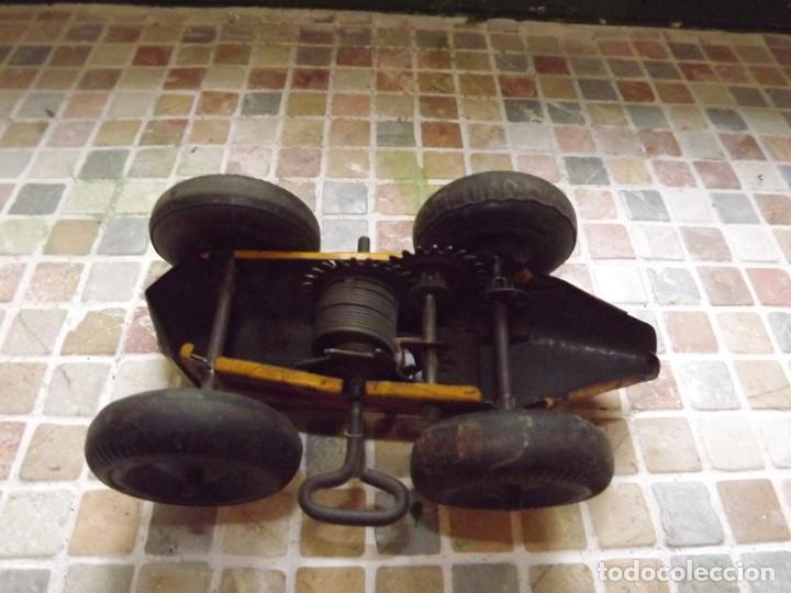 Juguetes antiguos de hojalata: Marx ,coche N 5 de carreras, a cuerda,REf 1015 - Foto 5 - 195364008
