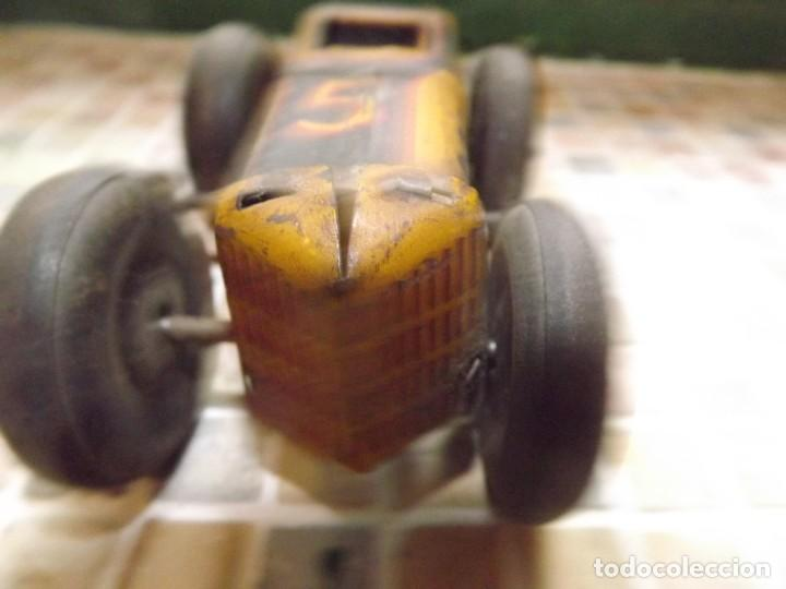 Juguetes antiguos de hojalata: Marx ,coche N 5 de carreras, a cuerda,REf 1015 - Foto 6 - 195364008