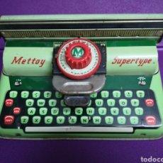 Juguetes antiguos de hojalata: METTOY SUPERTYPE MÁQUINA MECANOGRÁFICA. MECANOGRAFÍA. Lote 196188166