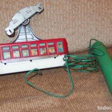 Juguetes antiguos de hojalata: CABLE CAR,MADE IN JAPAN,TELEFERICO CABLEDIRIGIDO,A PILAS,AÑOS 60. Lote 197749245