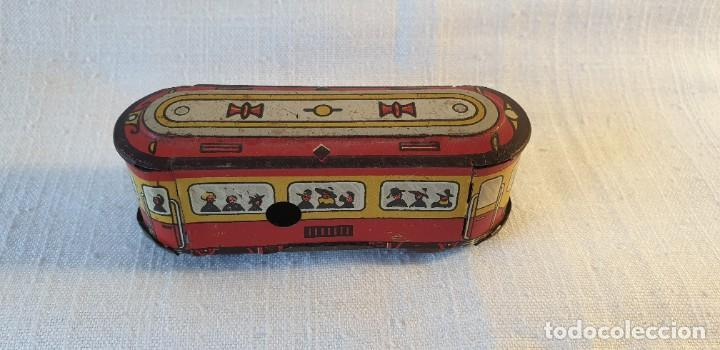 Juguetes antiguos de hojalata: PEQUEÑO TRANVÍA EN HOJALATA - Foto 5 - 197974255