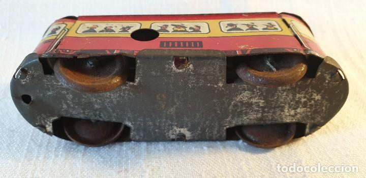 Juguetes antiguos de hojalata: PEQUEÑO TRANVÍA EN HOJALATA - Foto 8 - 197974255