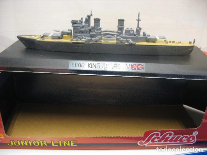 Juguetes antiguos de hojalata: barco de schuco esc. 1:1100 king george v - Foto 2 - 198048820