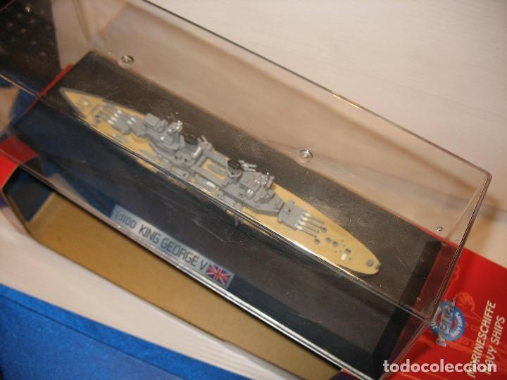 Juguetes antiguos de hojalata: barco de schuco esc. 1:1100 king george v - Foto 6 - 198048820