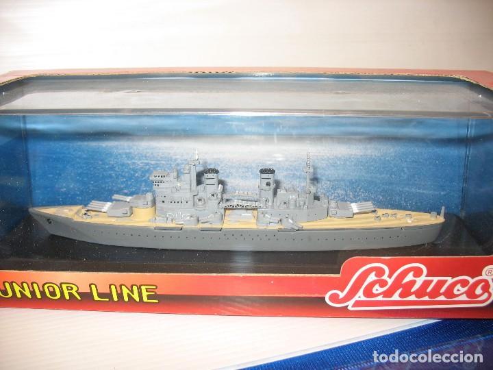 Juguetes antiguos de hojalata: barco de schuco esc. 1:1100 king george v - Foto 7 - 198048820