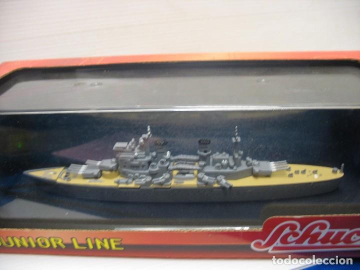 Juguetes antiguos de hojalata: barco de schuco esc. 1:1100 king george v - Foto 8 - 198048820