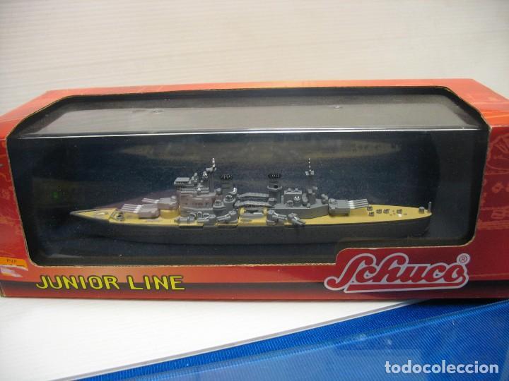 Juguetes antiguos de hojalata: barco de schuco esc. 1:1100 king george v - Foto 9 - 198048820