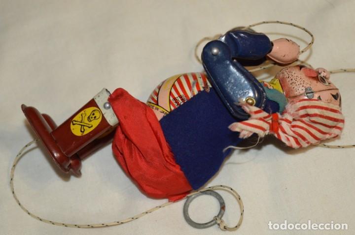 Juguetes antiguos de hojalata: TPS - CLIMBING PIRATE / Made In Japan - Hojalata Litografiada - Funcionando - Años 50/60 ¡Mira! - Foto 6 - 198361428