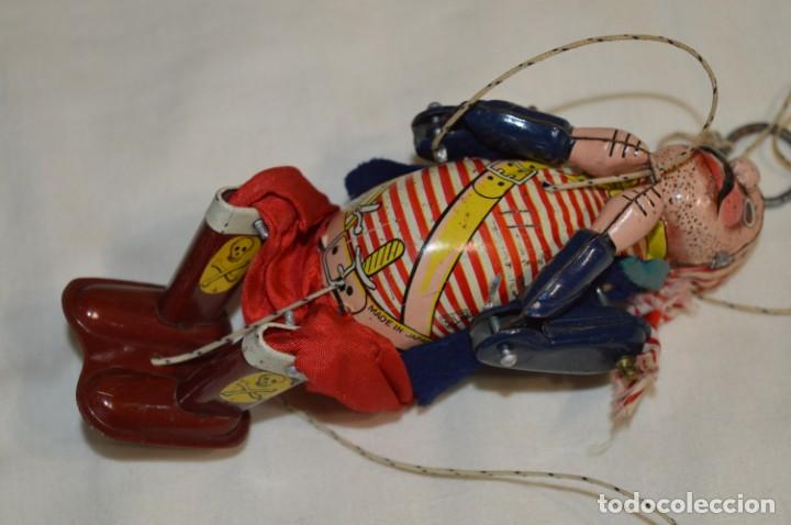 Juguetes antiguos de hojalata: TPS - CLIMBING PIRATE / Made In Japan - Hojalata Litografiada - Funcionando - Años 50/60 ¡Mira! - Foto 7 - 198361428