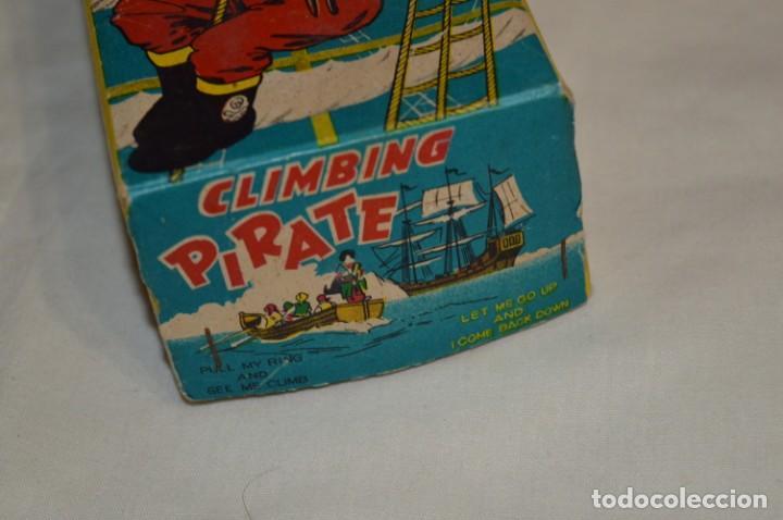 Juguetes antiguos de hojalata: TPS - CLIMBING PIRATE / Made In Japan - Hojalata Litografiada - Funcionando - Años 50/60 ¡Mira! - Foto 17 - 198361428