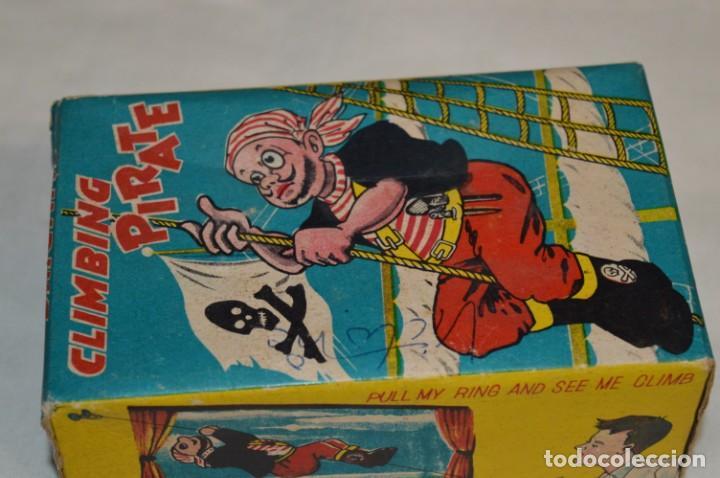 Juguetes antiguos de hojalata: TPS - CLIMBING PIRATE / Made In Japan - Hojalata Litografiada - Funcionando - Años 50/60 ¡Mira! - Foto 18 - 198361428