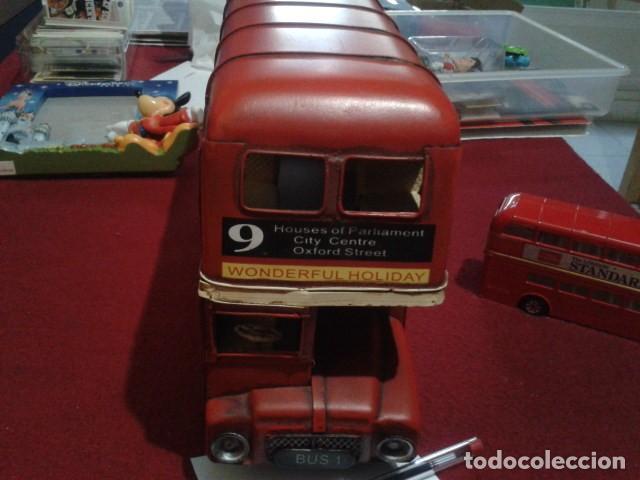 BUS LONDON CITY HOJALATA (ALEX BOG) MIDE 17 CM ALTO - 9 CM ANCHO Y 30 CM LARGO PESA 970 GR (Juguetes - Juguetes de Hojalata: Reproducciones y Actuales )