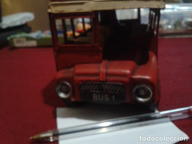 Juguetes antiguos de hojalata: BUS LONDON CITY HOJALATA (ALEX BOG) MIDE 17 CM ALTO - 9 CM ANCHO Y 30 CM LARGO PESA 970 gr - Foto 4 - 199215076