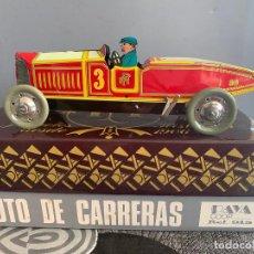 Juguetes antiguos de hojalata: PAYA COCHE CARRERAS I-915 REPRODUCCION DE 1985 MADE IN SPAIN EDICION LIMITADA . Lote 199522175