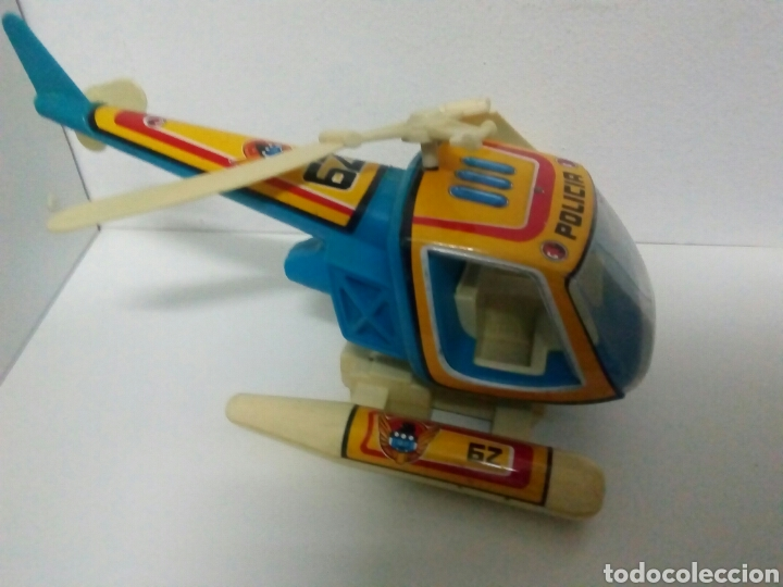 Juguetes antiguos de hojalata: Helicóptero obertoys - Foto 2 - 200403708