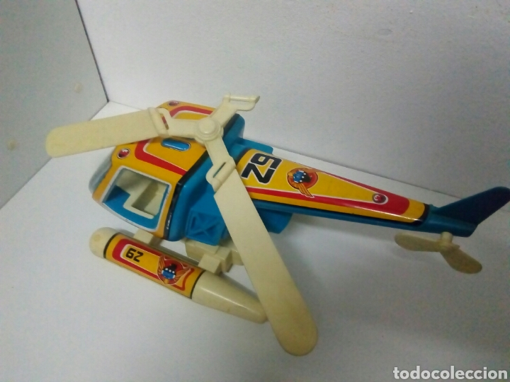Juguetes antiguos de hojalata: Helicóptero obertoys - Foto 3 - 200403708