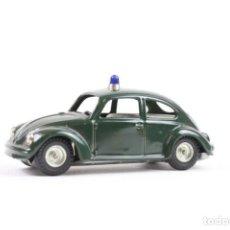 Juguetes antiguos de hojalata: COCHE POLICIA VOLKSWAGEN ESCARABAJO 403 DE CKO, WESTERN GERMANY DE FRICCION,. Lote 201495488