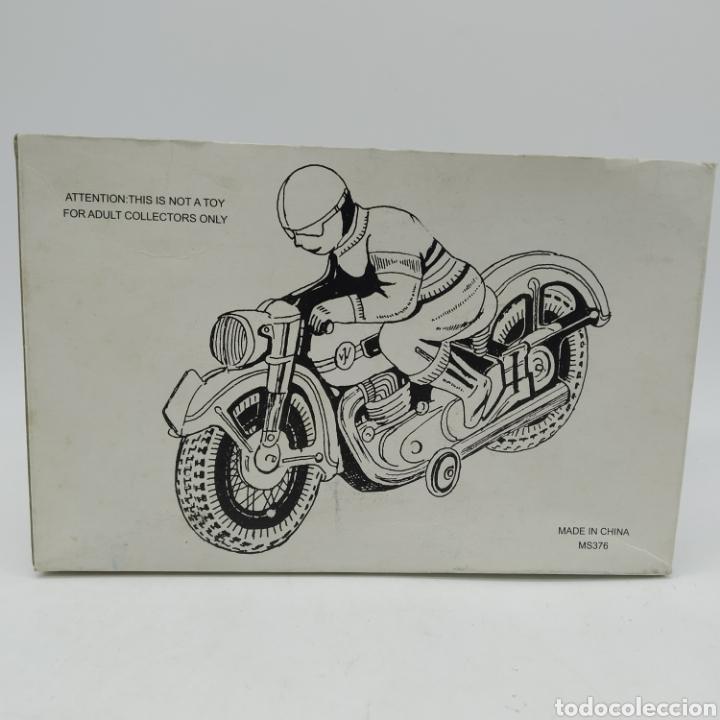 Juguetes antiguos de hojalata: Moto de hojalata años 90 MS TOYS ref 376 China, reproducción de la Alemana TIPCO, TCO - Foto 5 - 202820250