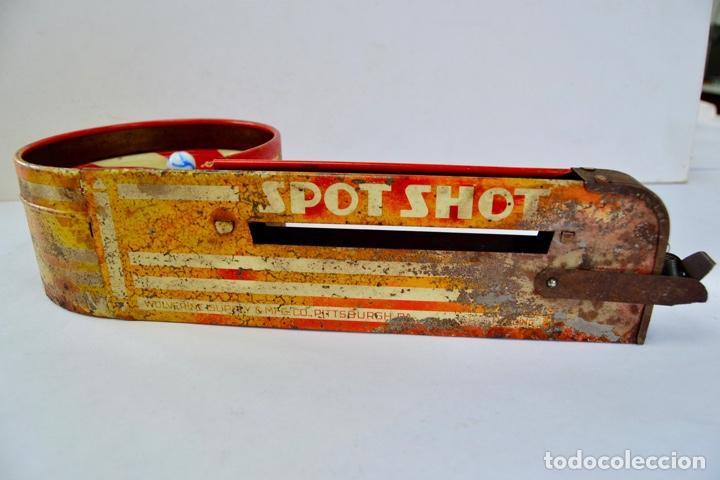 Juguetes antiguos de hojalata: Original Juguete Lanzabolas de Chapa. Spot Shot, Wolverine. E.E.U.U. Pin-ball. Circa 1950 - Foto 7 - 203004928