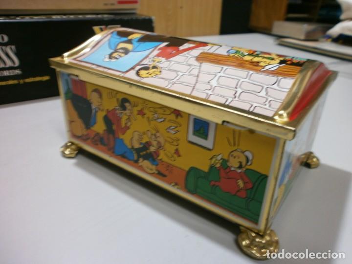 Juguetes antiguos de hojalata: hucha de hojalata popeye años 60-70 - Foto 4 - 203968827